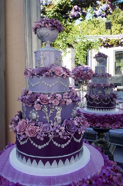 pink and purple wedding cakes 31 0 1